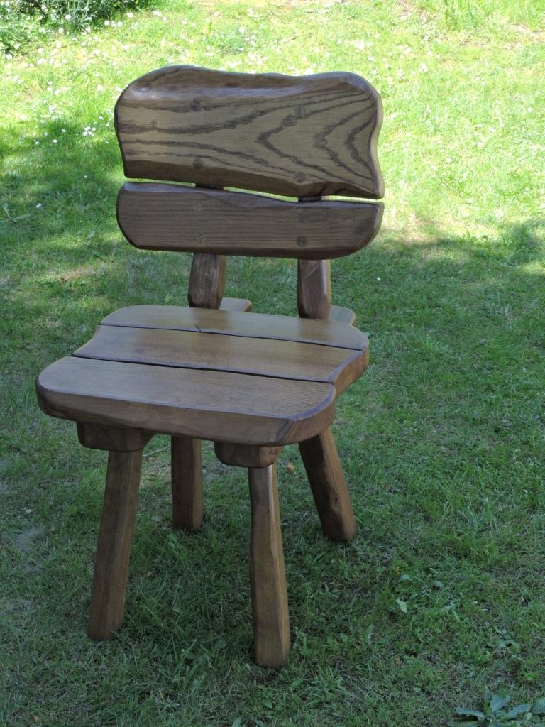 rustikale gartenstuhl massivholz edelholz hartholz gartenm bel holzm bel ebay. Black Bedroom Furniture Sets. Home Design Ideas